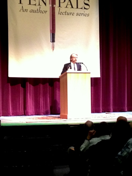 George Saunders takes the stage at the Hopkins Center for the Arts.
