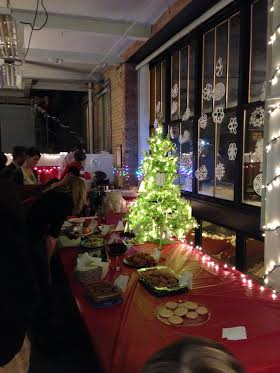 The cookie table featured all kinds of holiday treats.